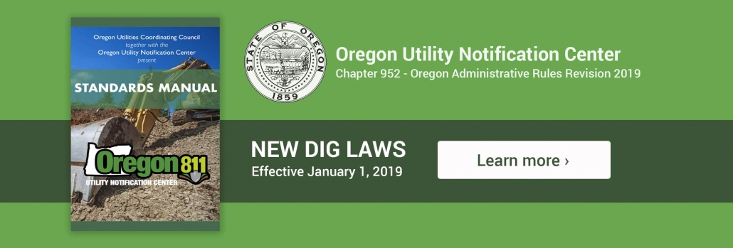 Oregon Utility Notification Center – Call Before You Dig